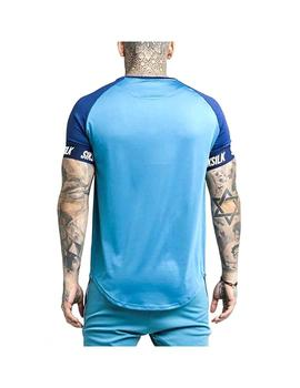 Camiseta SikSilk S/S Raglan Tech Teal/Bl