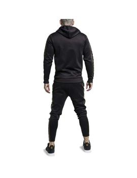 Sudadera SikSilk Overhead Taped Black/Go