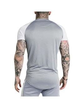 Camiseta SikSilk Taped Contrast Gris