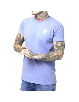 Camiseta Siksilk S/S Peached Box Tee Blue Ice Homb