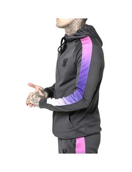 Sudadera Siksilk Fade Panel Zip Through Hoodie Urb