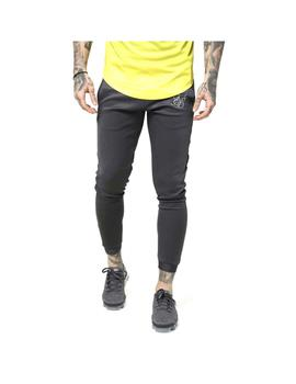 Pantalon SikSilk Fade Out Cuffed Panel Gris Hombre
