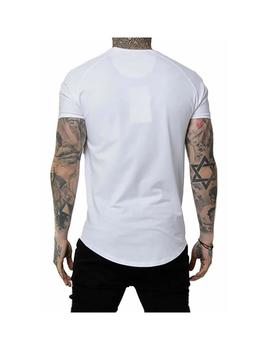 Camiseta SikSilk S/S Tape Gym White-Silver Hombre