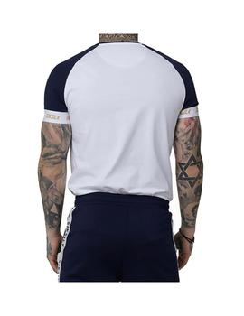 Camiseta SikSilk S/S Tech Navy/White/Gold Hombre