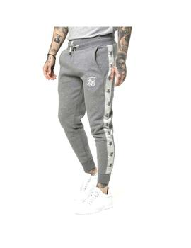 Pantalon SikSilk Muscle Fit Jogger Grey Marl Hombr