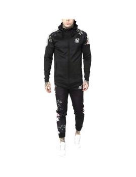 Sudadera SikSilk Oil Paint Athlete Zip Through Bla