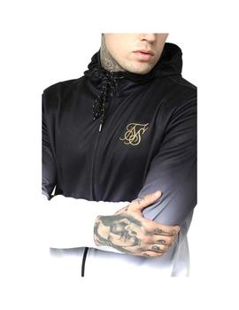 Sudadera SikSilk Agility Zip Through Blanco/Negro Hombre