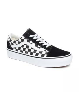 Zapatillas Vans Old Skool Platform (Checkerboard) Cuadros Mu