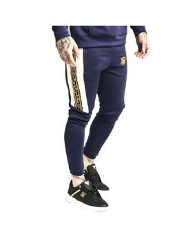 Pantalón SikSilk Hybrid Panel Tape Fitted Navy Hombre