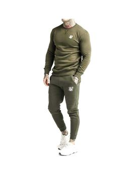 Pantalon Siksilk Core Muscle Fit Jogger Khaki