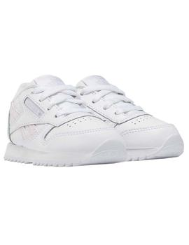 Zapatillas Reebok Classic Leather Blanco/Rosa Niños