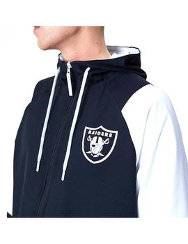 Chaqueta New Era Nfl Windbreaker Raiders Negro Hombre