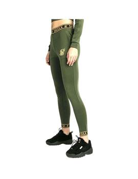 Pantalon Siksilk Taped Track Pants Khaki Mujer