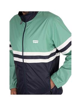 Chaqueta Levis Colorblocked Windbreaker Night Verde Hombre