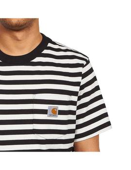 Camiseta Carhartt WIP S/S Scotty Pocket T-Shirt Blanco/Negro