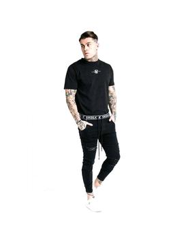 Pantalon Siksilk Elasticated Waist Skinny Distress Negro Hom