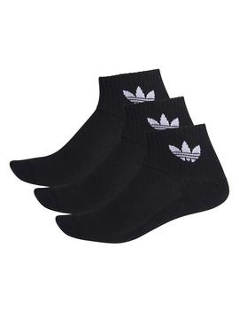 Calcetines Adidas Mid Ankle Sck Negro Unisex