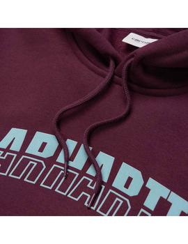 Sudadera Carhartt WIP Hooded District Sweat Granate Hombre