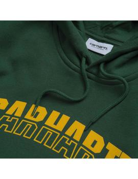 Sudadera Carhartt WIP Hooded District Sweat Verde Hombre