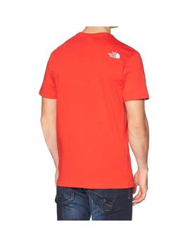Camiseta The North Face Simple Dome Fiery Rojo Hombre