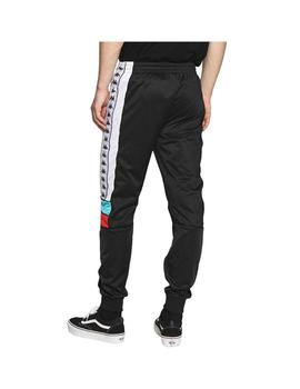 Pantalon Kappa Mems Slim Black/White/Turquoise/Red