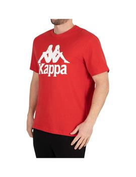 Camiseta Kappa Tahiti Red Blaze/White