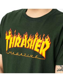Camiseta Thrasher Flame Forest Green Hombre