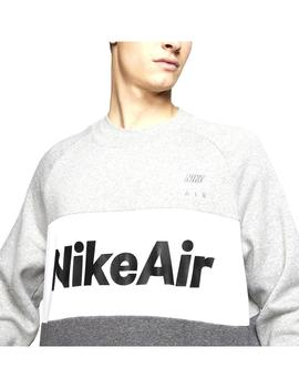 Sudadera Nike Air Grey Heather/Charcoal White Hombre