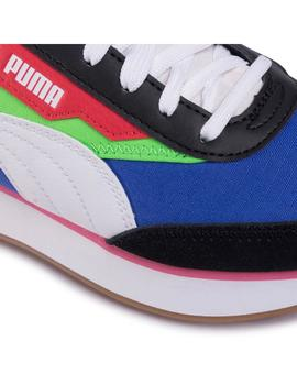 Zapatillas Puma Future Rider Play On JR Green/Blue Mujer