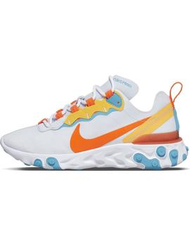 Zapatillas Nike React Element 55 Football Grey/azul Mujer
