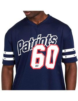 Camiseta New Era Nfl Stripe Sleeve Overszd Osb Hombre