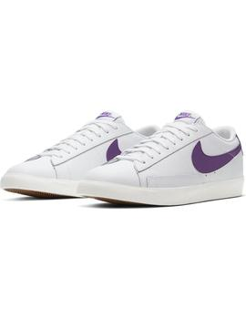 Zapatillas Nike Blazer Low Leather White/Voltage Hombre