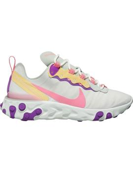 Zapatillas Nike React Element 55 Pistachio Gris/Rosa Mujer
