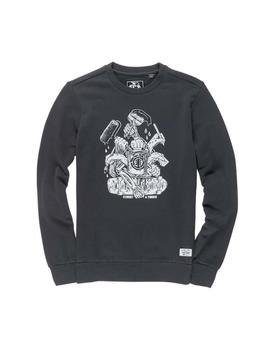 SUDADERA ELEMENT BY HAND CREW OFF NEGRO HOMBRE