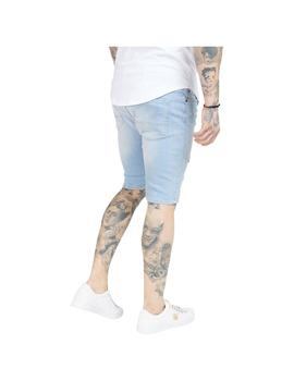 Bermuda SikSilk Distressed Skinny Shorts Light Ho