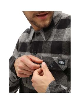 Camisa  Dickies Sacramento Relaxed Grey Melange Hombre