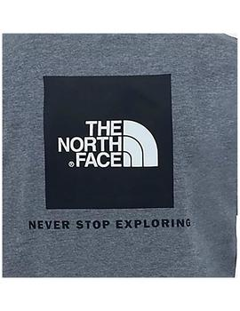 Camiseta The North Face S/S Red Box Tee Gris Hombre