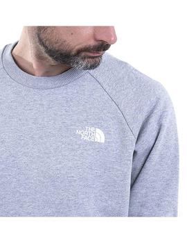 Sudadera The North Face Rag Redbx Crew New Gris Hombre
