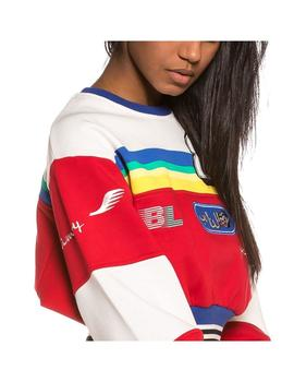 Sudadera Grimey Arch Rival Crop Red Mujer