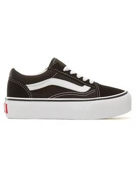 Zapatillas Vans Old Skool Platform Black/True White Niños