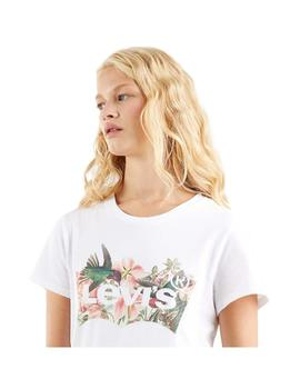 Camiseta Levis The Perfect  Batwing Fill White Mujer