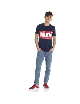 CAMISETA PUMA GRAPHIC LOGO BLOCK TEE PEA