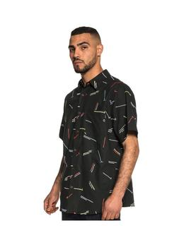 CAMISA GRIMEY ECHOES BUTTON UP BLACK