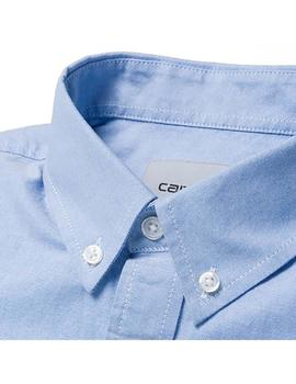 Camisa Carhartt Wip Button Down Pocket S Azul Hombre