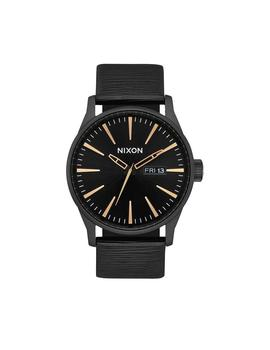 037c06a8794f RELOJ NIXON SENTRY LEATHER ALL NEGRO DORADO UNISEX
