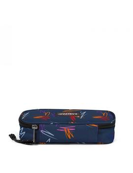 Estuche Eastpak Oval Single Scribble Azul Unisex