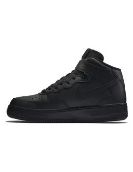 ZAPATILLAS NIKE AIR FORCE 1 MID (GS) NEGRA MUJER