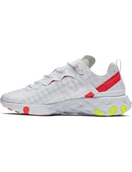 Zapatillas Nike React Element 55 Wht/Vo